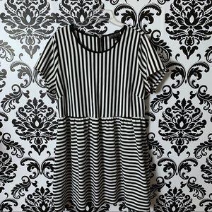 Forever 21 plus size 3X striped skater dress